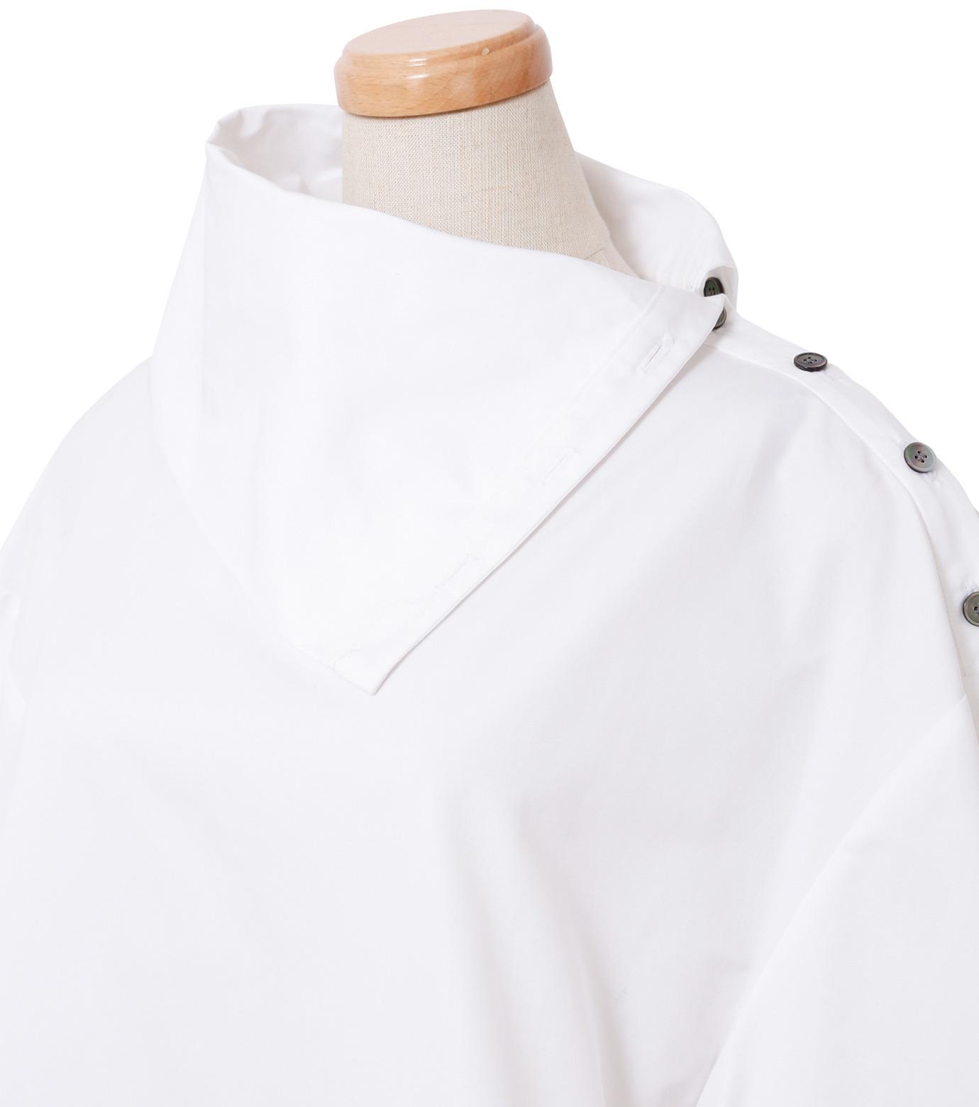 IRENE(アイレネ)のサイドウェイカラーシャツ-WHITE(シャツ/shirt)-18A83003 拡大詳細画像4
