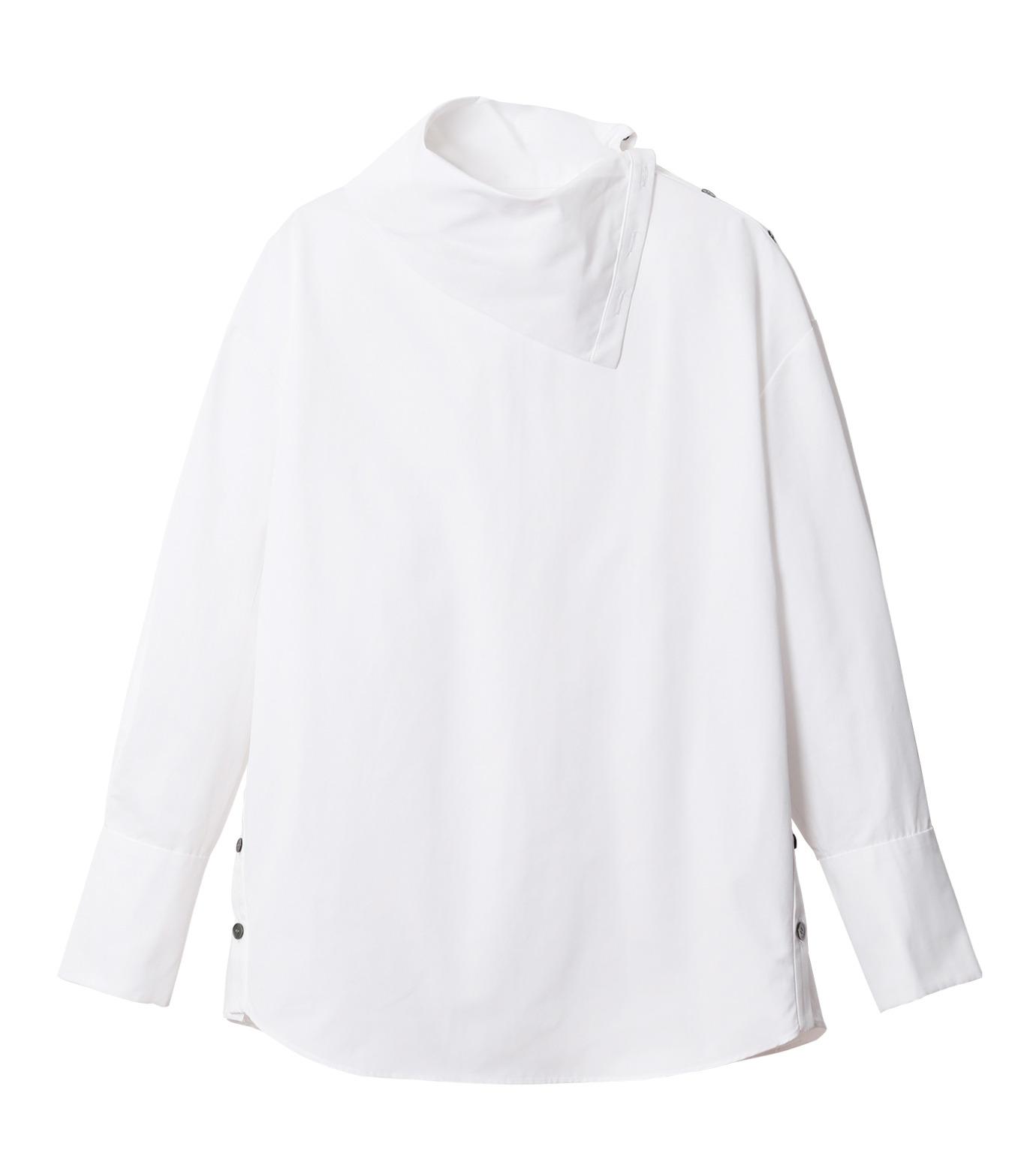 IRENE(アイレネ)のサイドウェイカラーシャツ-WHITE(シャツ/shirt)-18A83003 拡大詳細画像6