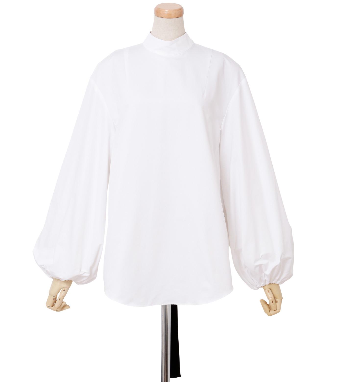IRENE(アイレネ)のブァッファンスリーブトップス-WHITE(シャツ/shirt)-18A83004 拡大詳細画像1
