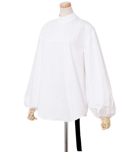 IRENE(アイレネ)のブァッファンスリーブトップス-WHITE(シャツ/shirt)-18A83004 詳細画像2