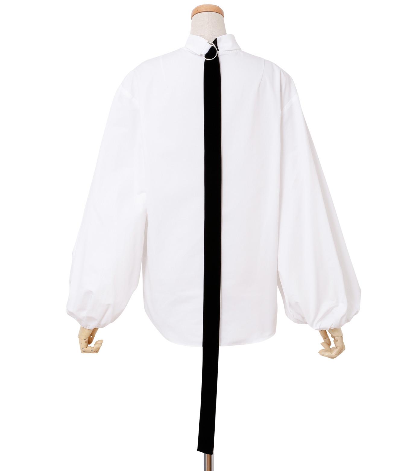IRENE(アイレネ)のブァッファンスリーブトップス-WHITE(シャツ/shirt)-18A83004 拡大詳細画像3
