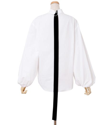 IRENE(アイレネ)のブァッファンスリーブトップス-WHITE(シャツ/shirt)-18A83004 詳細画像3