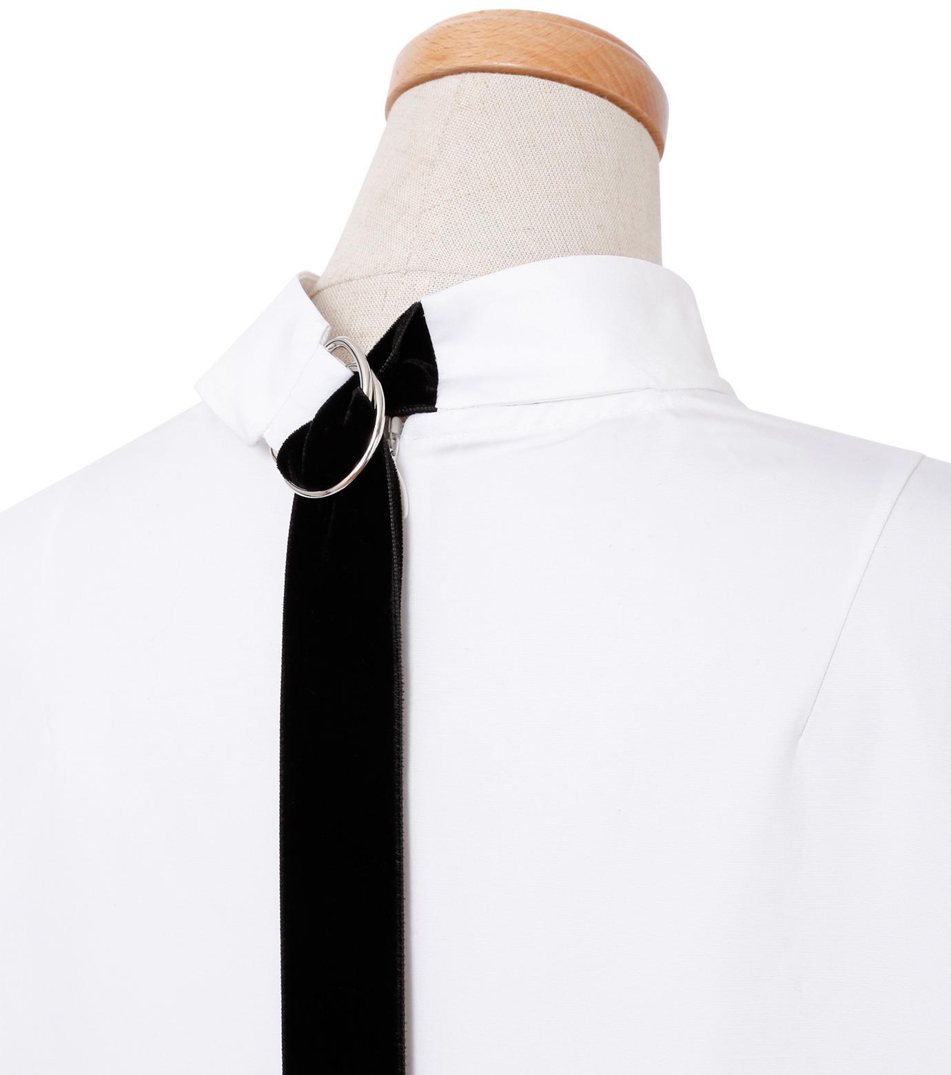 IRENE(アイレネ)のブァッファンスリーブトップス-WHITE(シャツ/shirt)-18A83004 拡大詳細画像4