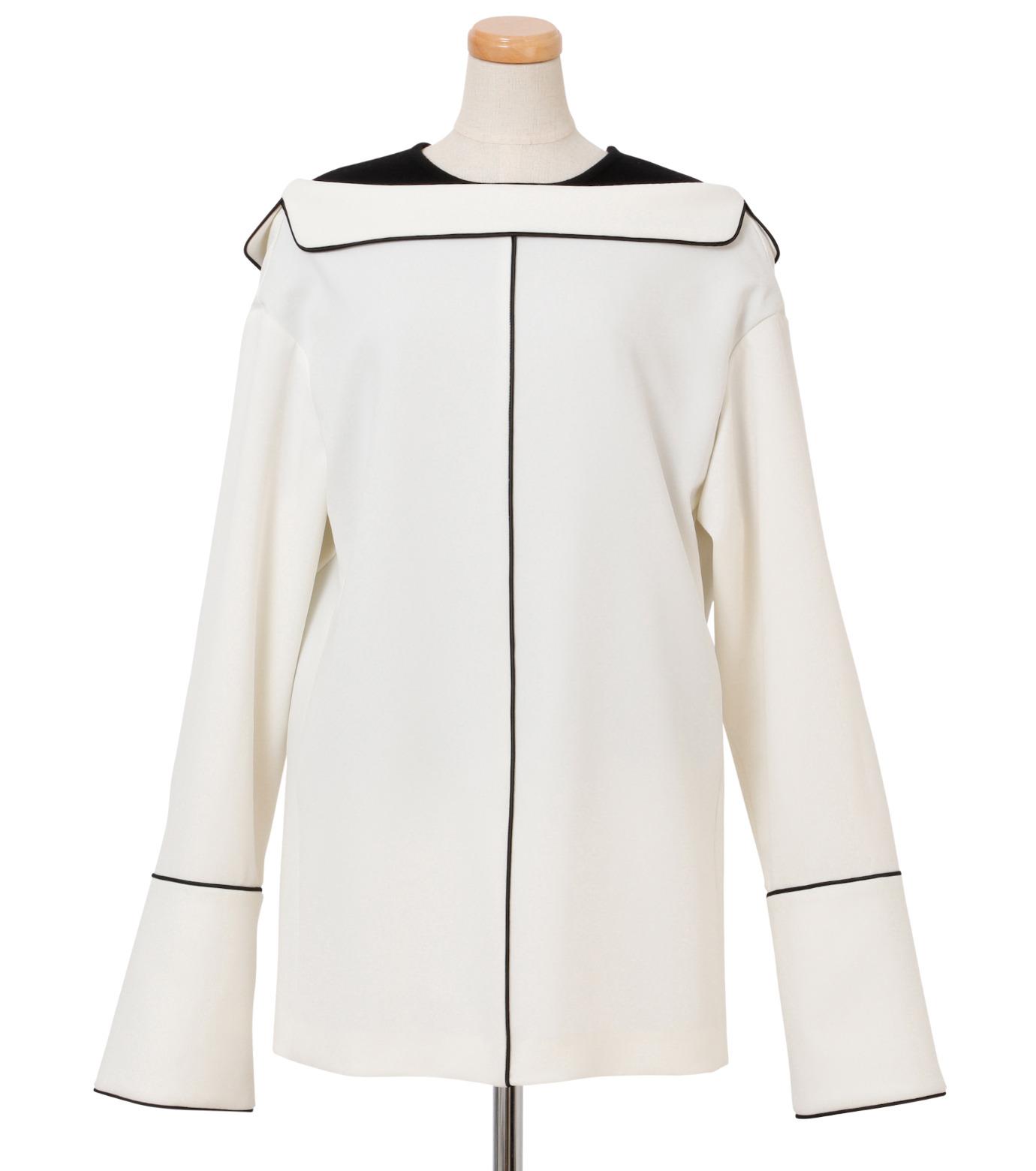 IRENE(アイレネ)のリバーサルスーツトップス-WHITE(シャツ/shirt)-18A83006 拡大詳細画像1