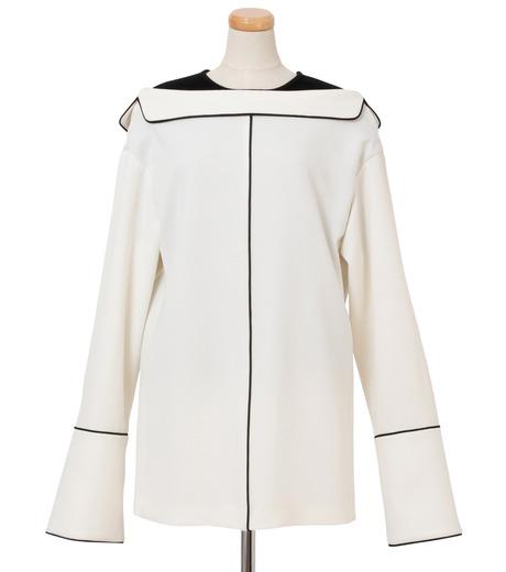 IRENE(アイレネ)のリバーサルスーツトップス-WHITE(シャツ/shirt)-18A83006 詳細画像1