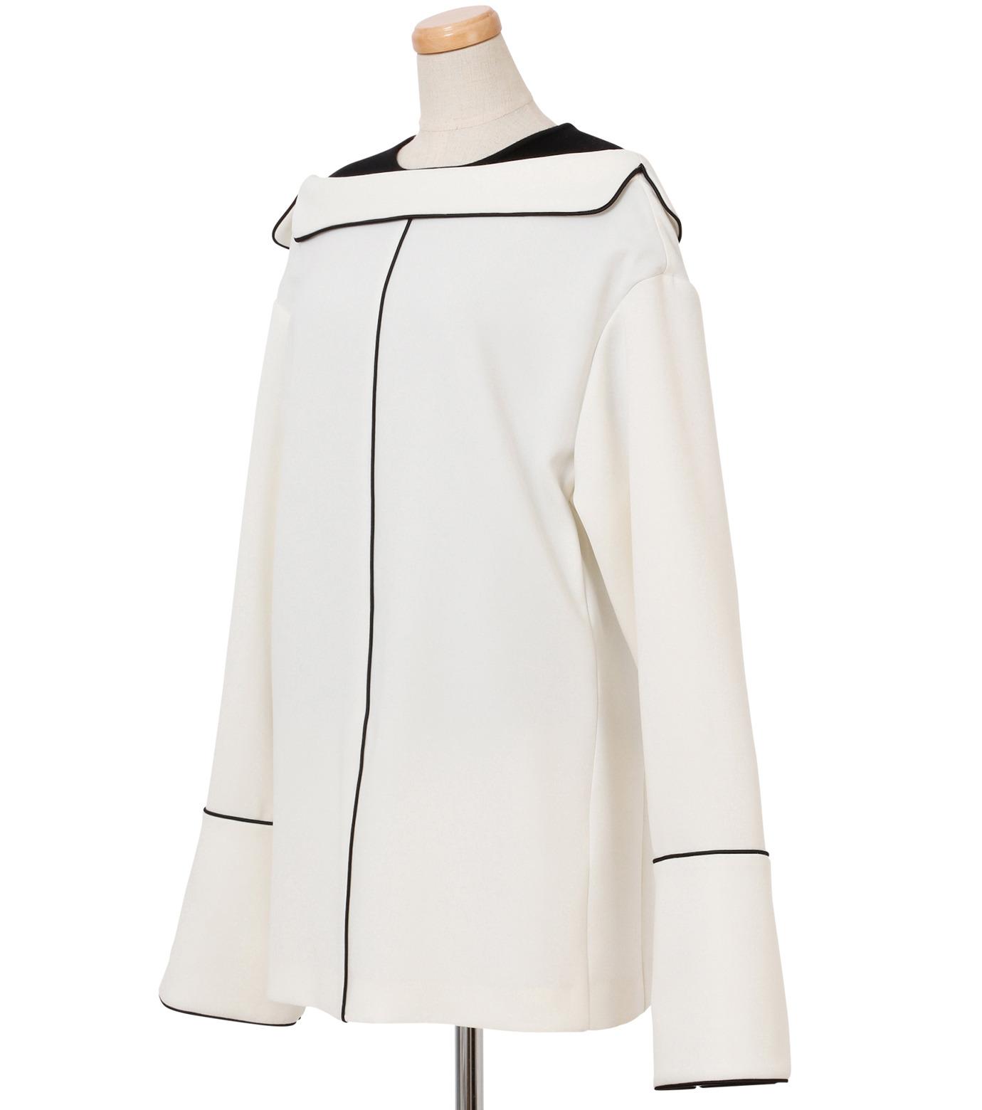 IRENE(アイレネ)のリバーサルスーツトップス-WHITE(シャツ/shirt)-18A83006 拡大詳細画像2