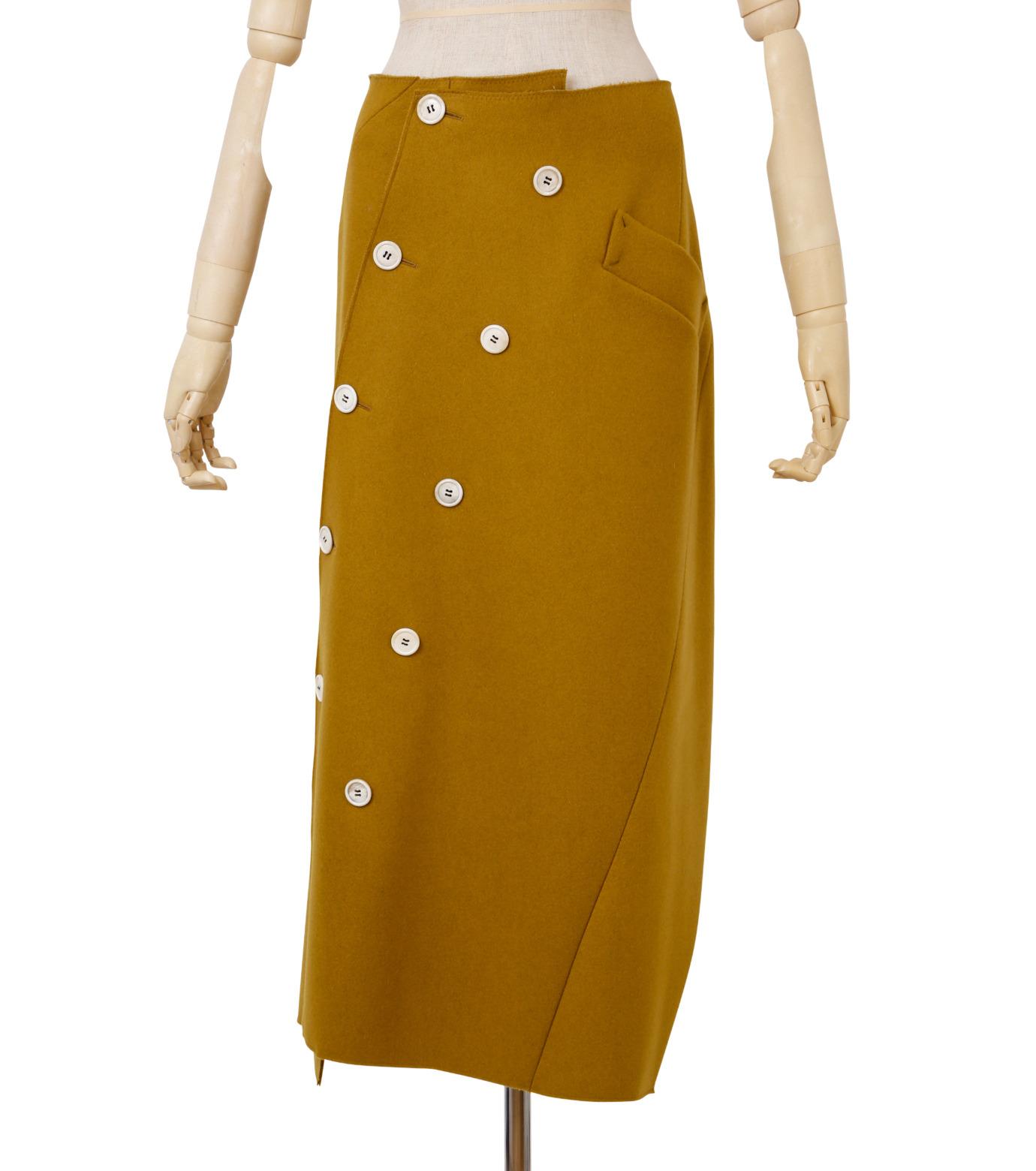 IRENE(アイレネ)のツイストボックスラップスカート-MUSTARD(スカート/skirt)-18A87002 拡大詳細画像1