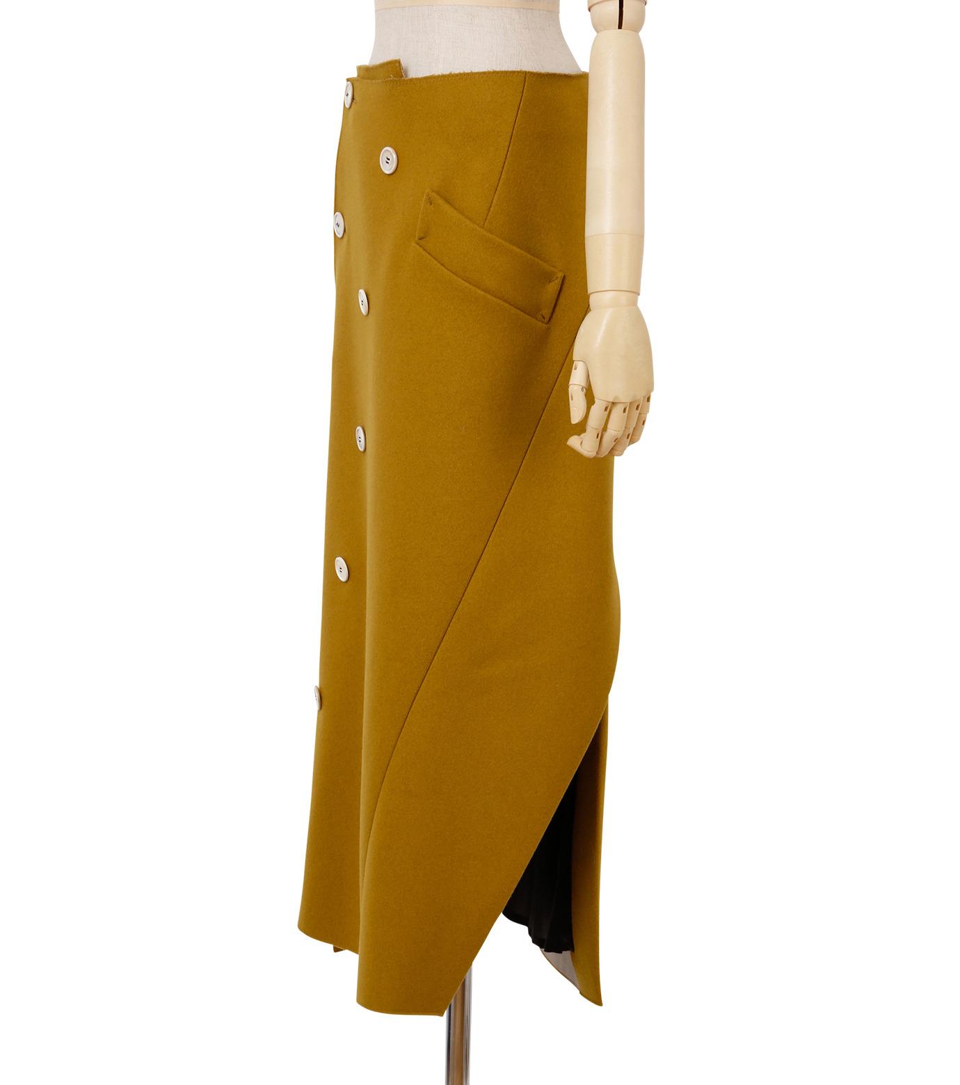 IRENE(アイレネ)のツイストボックスラップスカート-MUSTARD(スカート/skirt)-18A87002 拡大詳細画像2