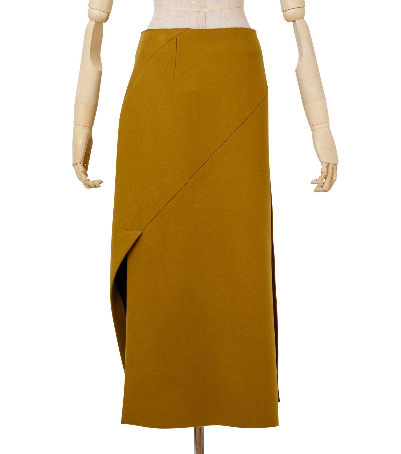 IRENE(アイレネ)のツイストボックスラップスカート-MUSTARD(スカート/skirt)-18A87002 拡大詳細画像3