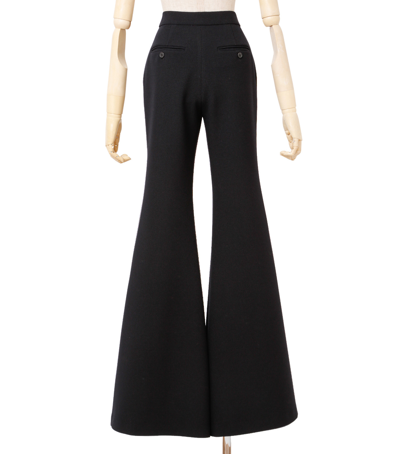 IRENE(アイレネ)のトランペットトラウザー-BLACK(パンツ/pants)-18A88002 拡大詳細画像3
