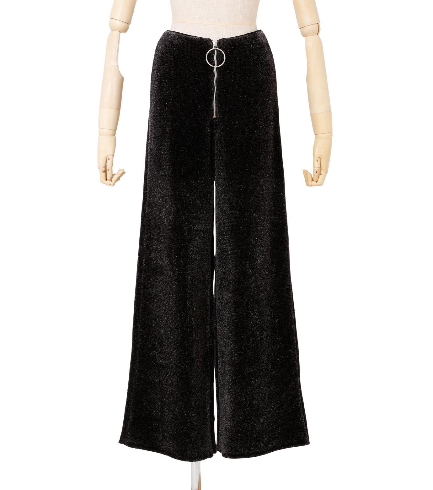 IRENE(アイレネ)のシルクワイドパンツ-CHARCHOL GRAY(パンツ/pants)-18A88004 拡大詳細画像1