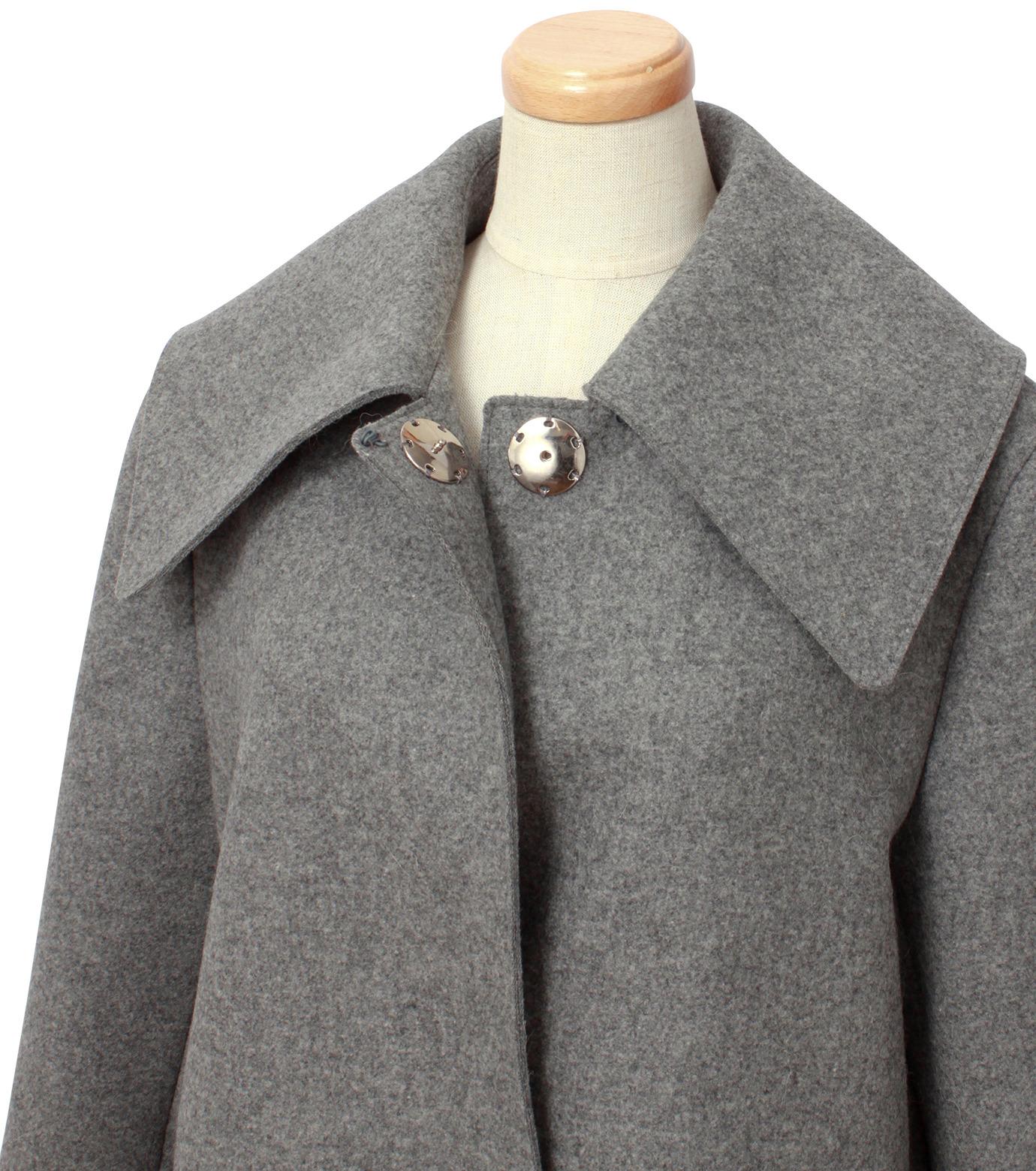 IRENE(アイレネ)のベルスリーブトレンチコート-GRAY(コート/coat)-18A89004 拡大詳細画像4