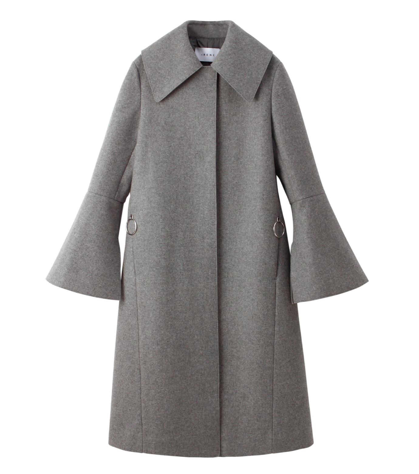 IRENE(アイレネ)のベルスリーブトレンチコート-GRAY(コート/coat)-18A89004 拡大詳細画像7