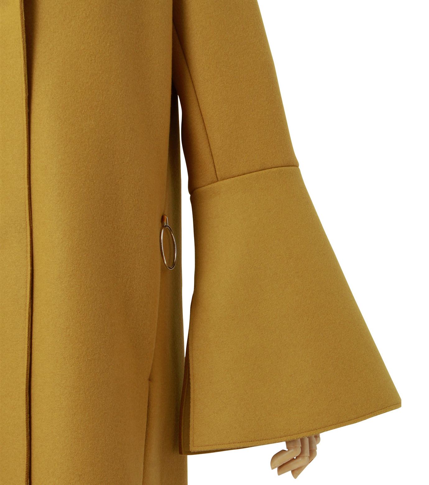 IRENE(アイレネ)のベルスリーブトレンチコート-MUSTARD(コート/coat)-18A89004 拡大詳細画像5