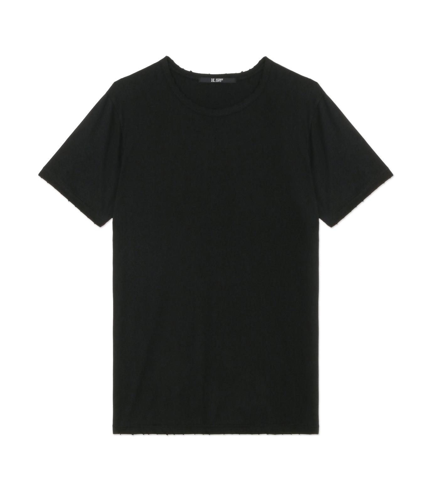 HL HEDDIE LOVU(エイチエル・エディールーヴ)のDAMAGE TEE-BLACK(カットソー/cut and sewn)-18A92001-13 拡大詳細画像1