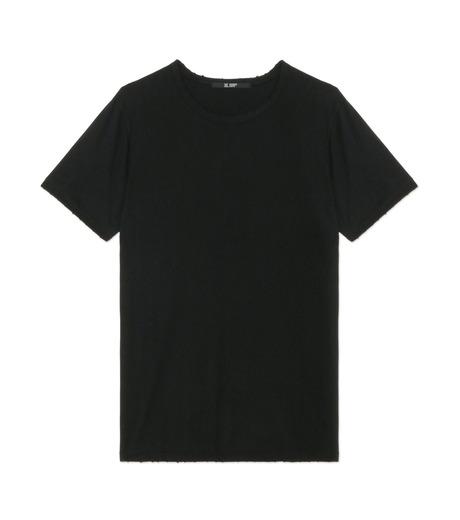 HL HEDDIE LOVU(エイチエル・エディールーヴ)のDAMAGE TEE-BLACK(カットソー/cut and sewn)-18A92001-13 詳細画像1