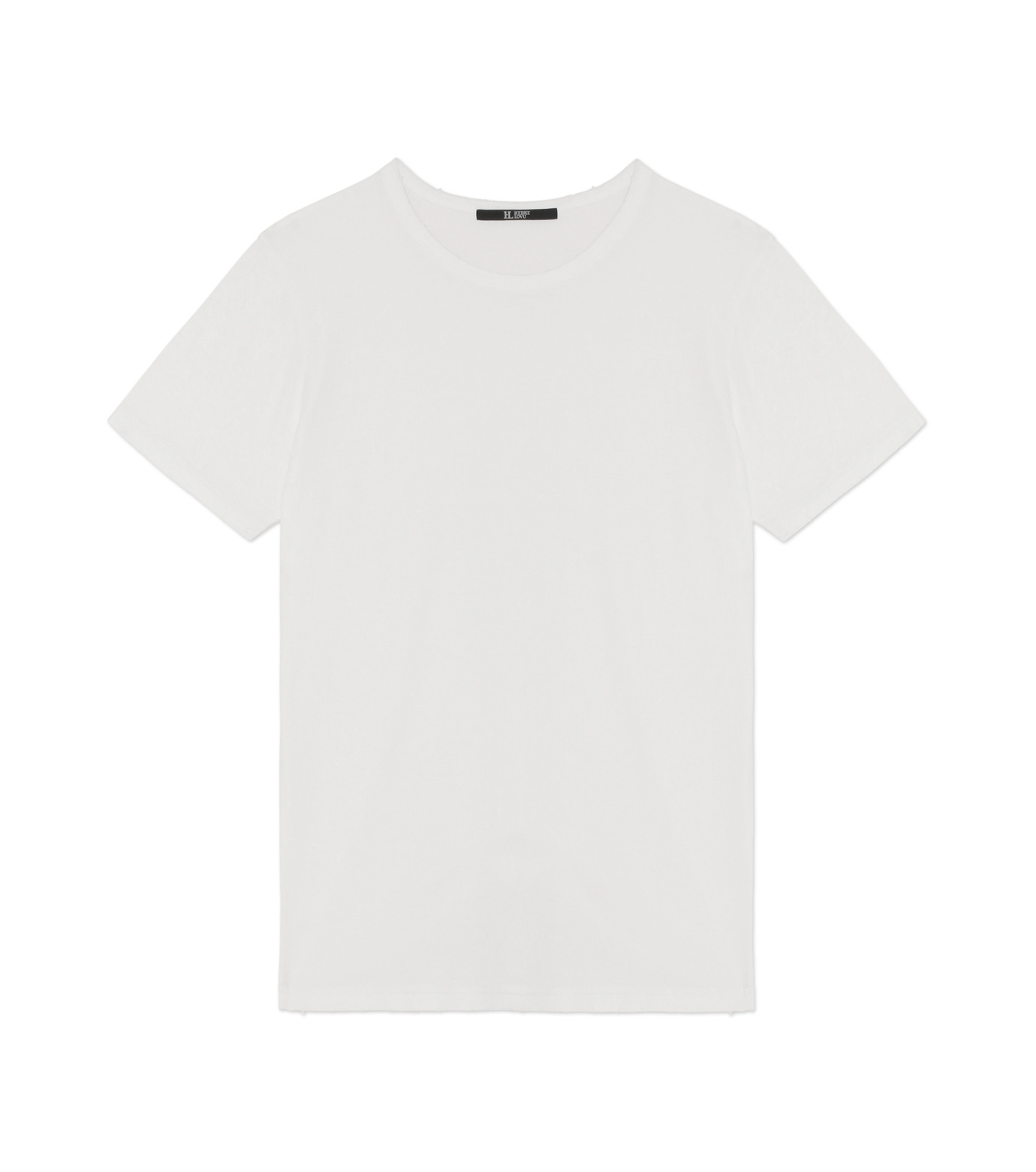 HL HEDDIE LOVU(エイチエル・エディールーヴ)のDAMAGE TEE-WHITE(カットソー/cut and sewn)-18A92001-4 拡大詳細画像1