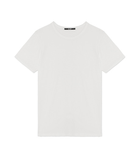 HL HEDDIE LOVU(エイチエル・エディールーヴ)のDAMAGE TEE-WHITE(カットソー/cut and sewn)-18A92001-4 詳細画像1