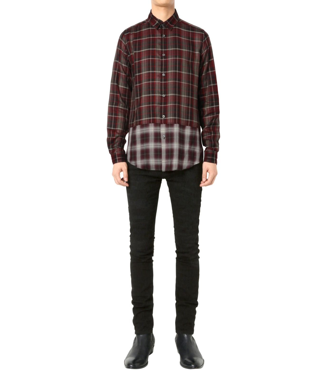 HL HEDDIE LOVU(エイチエル・エディールーヴ)のLAYERED CHECK SHIRT-RED(シャツ/shirt)-18A93001-62 拡大詳細画像3