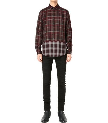 HL HEDDIE LOVU(エイチエル・エディールーヴ)のLAYERED CHECK SHIRT-RED(シャツ/shirt)-18A93001-62 詳細画像3