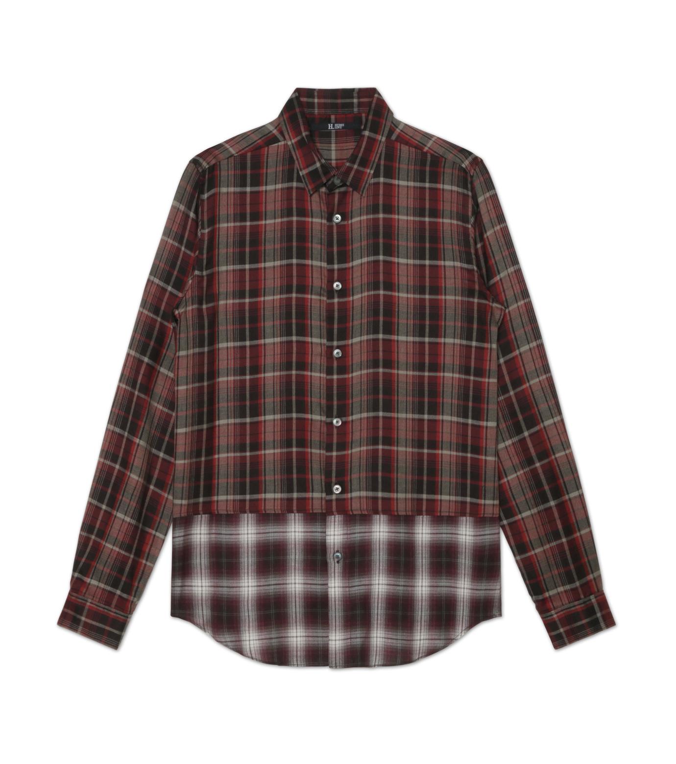 HL HEDDIE LOVU(エイチエル・エディールーヴ)のLAYERED CHECK SHIRT-RED(シャツ/shirt)-18A93001-62 拡大詳細画像4