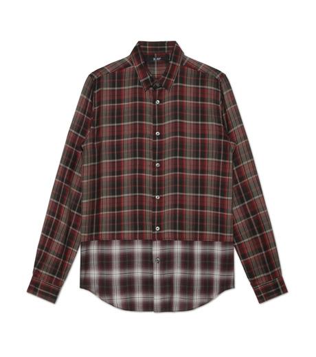 HL HEDDIE LOVU(エイチエル・エディールーヴ)のLAYERED CHECK SHIRT-RED(シャツ/shirt)-18A93001-62 詳細画像4