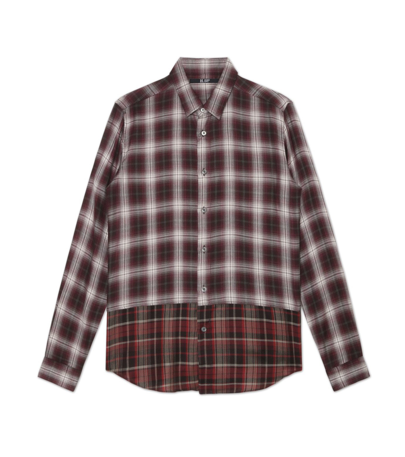 HL HEDDIE LOVU(エイチエル・エディールーヴ)のLAYERED CHECK SHIRT-BORDEAUX(シャツ/shirt)-18A93001-63 拡大詳細画像4