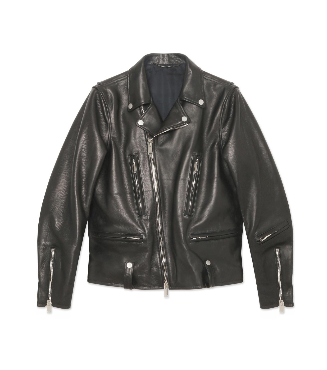 HL HEDDIE LOVU(エイチエル・エディールーヴ)のSEMI DOUBLE RIDERS JACKET-BLACK(ジャケット/jacket)-18A94001-13 拡大詳細画像1