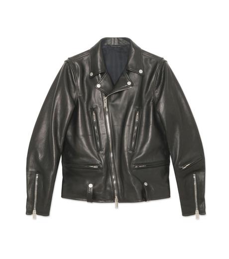 HL HEDDIE LOVU(エイチエル・エディールーヴ)のSEMI DOUBLE RIDERS JACKET-BLACK(ジャケット/jacket)-18A94001-13 詳細画像1