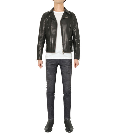 HL HEDDIE LOVU(エイチエル・エディールーヴ)のSEMI DOUBLE RIDERS JACKET-BLACK(ジャケット/jacket)-18A94001-13 詳細画像2