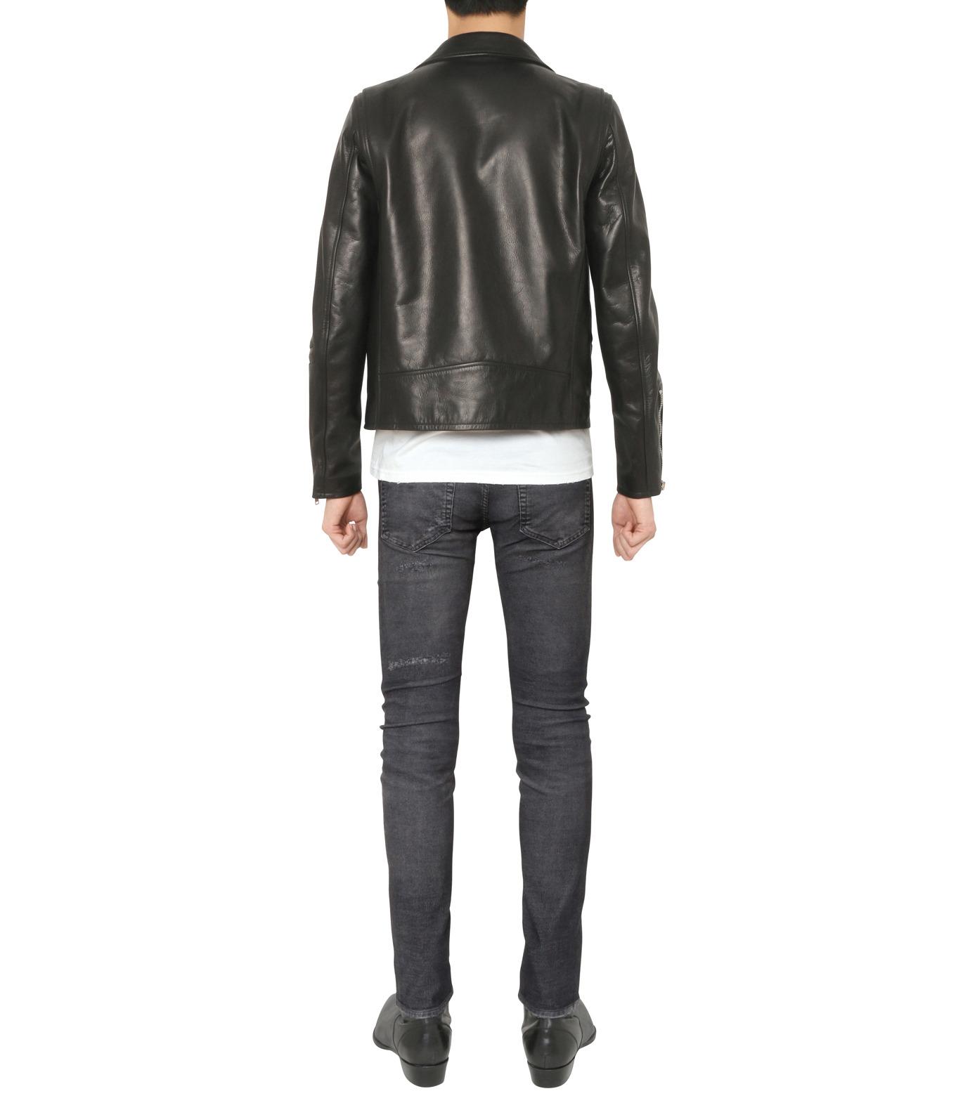 HL HEDDIE LOVU(エイチエル・エディールーヴ)のSEMI DOUBLE RIDERS JACKET-BLACK(ジャケット/jacket)-18A94001-13 拡大詳細画像3