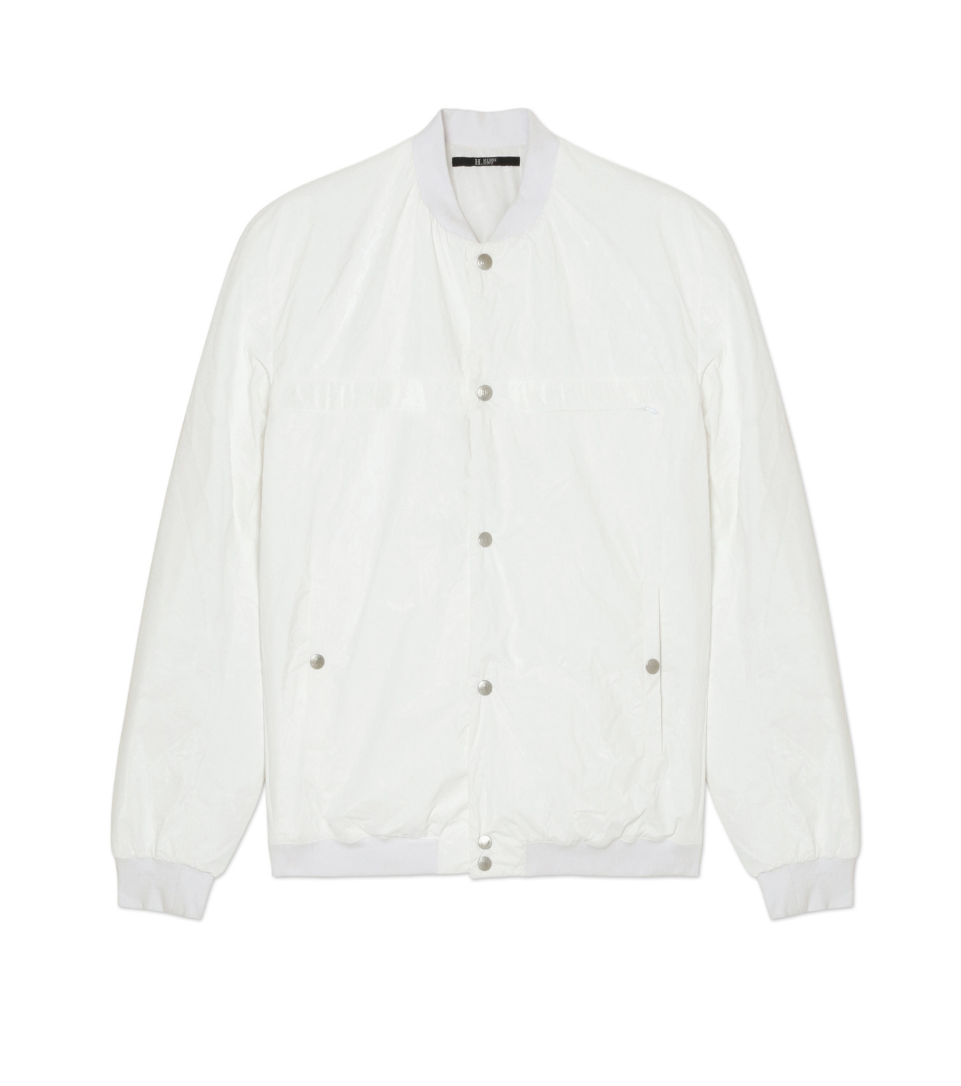 HL HEDDIE LOVU(エイチエル・エディールーヴ)のPAPER RIB COLLAR JACKET-WHITE(ジャケット/jacket)-18A94004-4 拡大詳細画像1
