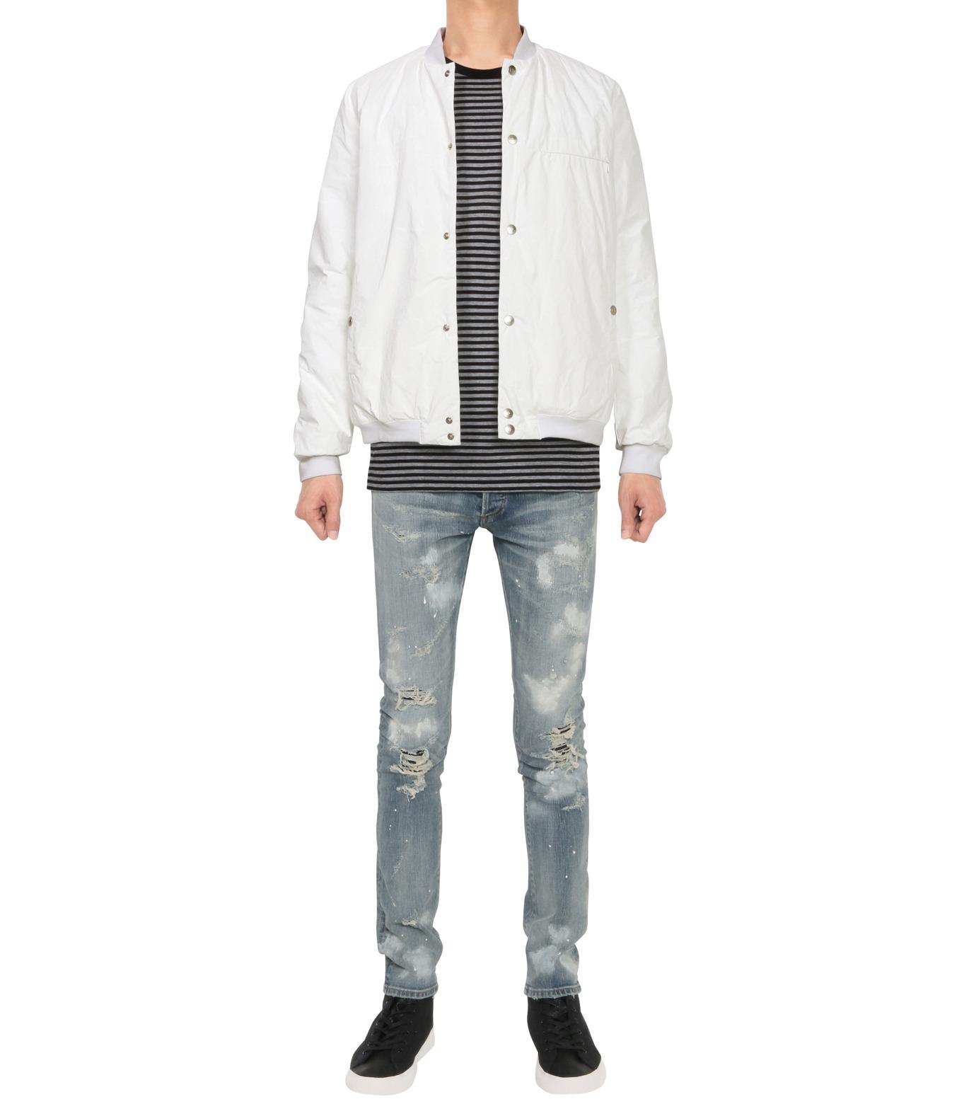 HL HEDDIE LOVU(エイチエル・エディールーヴ)のPAPER RIB COLLAR JACKET-WHITE(ジャケット/jacket)-18A94004-4 拡大詳細画像3