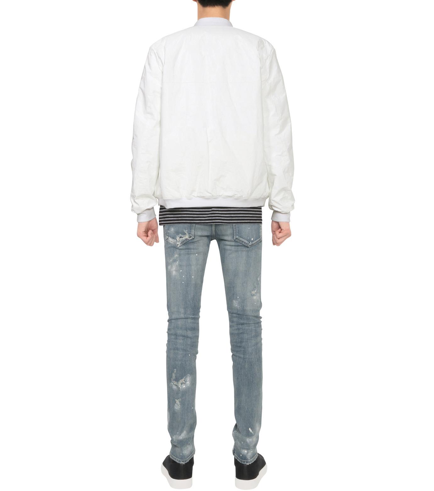 HL HEDDIE LOVU(エイチエル・エディールーヴ)のPAPER RIB COLLAR JACKET-WHITE(ジャケット/jacket)-18A94004-4 拡大詳細画像4