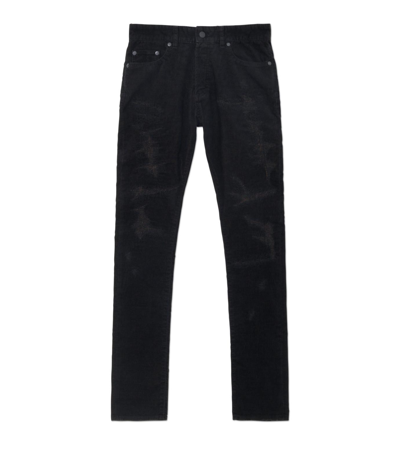 HL HEDDIE LOVU(エイチエル・エディールーヴ)のBLACK CORDUROY DAMAGE PANTS-BLACK(パンツ/pants)-18A98001-13 拡大詳細画像1
