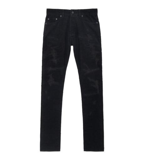 HL HEDDIE LOVU(エイチエル・エディールーヴ)のBLACK CORDUROY DAMAGE PANTS-BLACK(パンツ/pants)-18A98001-13 詳細画像1
