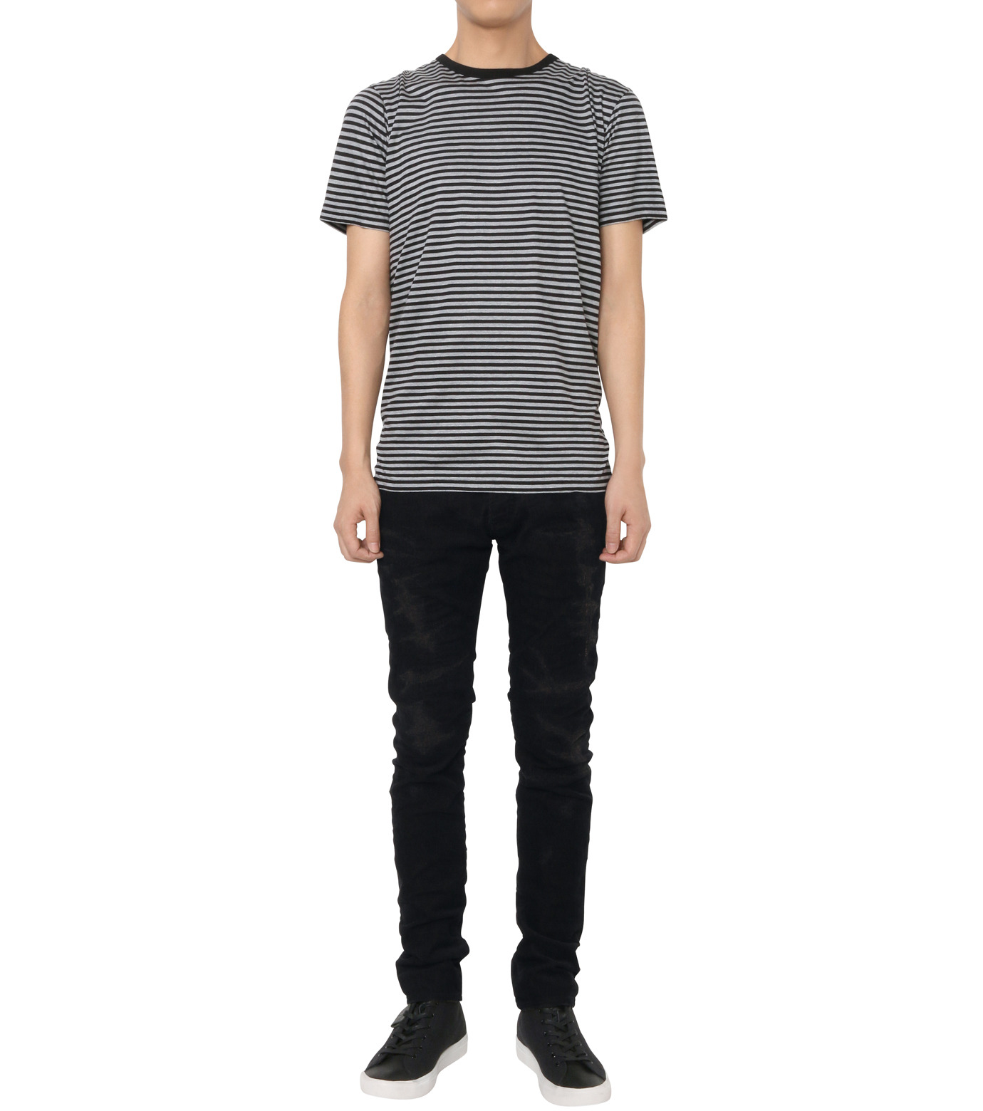 HL HEDDIE LOVU(エイチエル・エディールーヴ)のBLACK CORDUROY DAMAGE PANTS-BLACK(パンツ/pants)-18A98001-13 拡大詳細画像2
