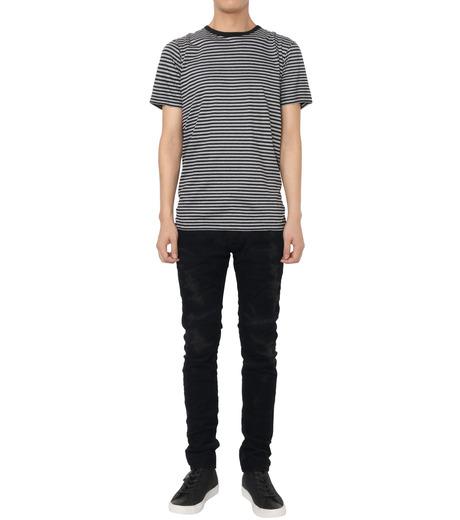 HL HEDDIE LOVU(エイチエル・エディールーヴ)のBLACK CORDUROY DAMAGE PANTS-BLACK(パンツ/pants)-18A98001-13 詳細画像2
