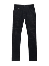 HL HEDDIE LOVU BLACK CORDUROY DAMAGE PANTS