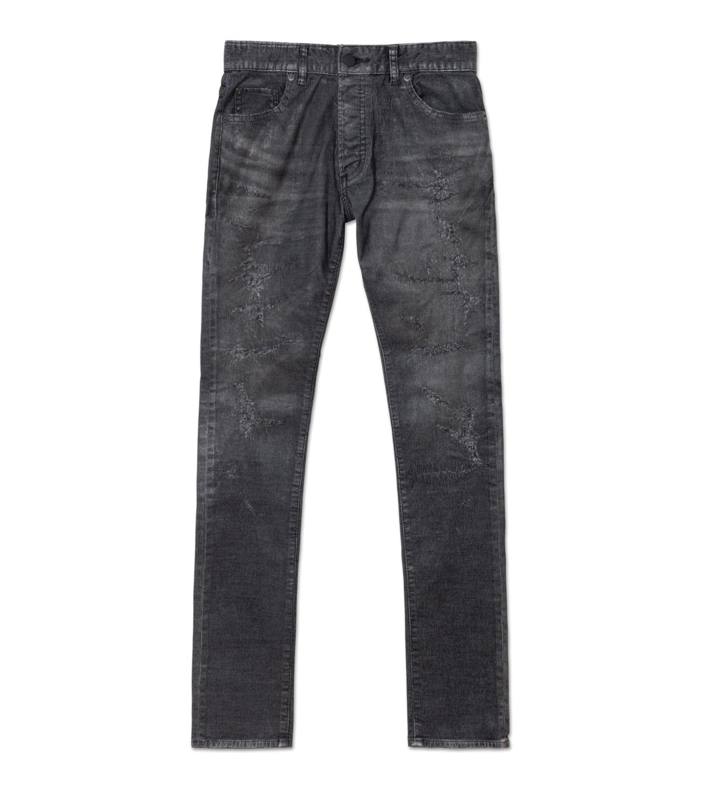 HL HEDDIE LOVU(エイチエル・エディールーヴ)のCOATING CORDUROY PANTS-GRAY(パンツ/pants)-18A98002-11 拡大詳細画像1