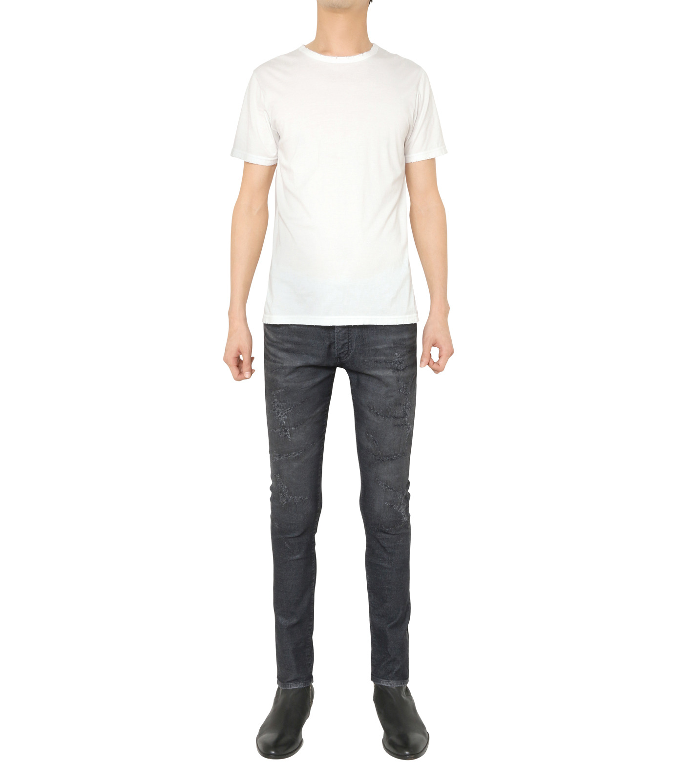 HL HEDDIE LOVU(エイチエル・エディールーヴ)のCOATING CORDUROY PANTS-GRAY(パンツ/pants)-18A98002-11 拡大詳細画像2