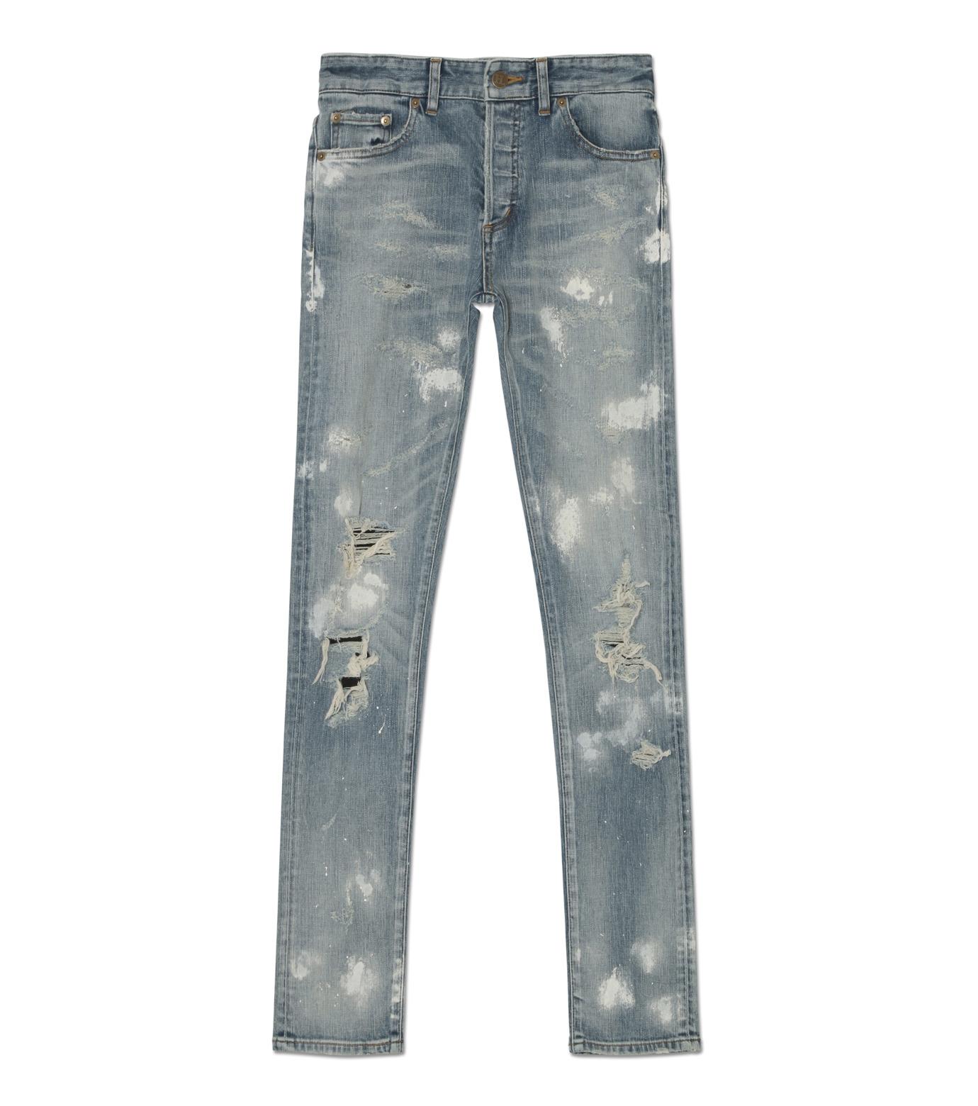 HL HEDDIE LOVU(エイチエル・エディールーヴ)のINDIGO DAMAGE4 SKIN SLIM-INDIGO(パンツ/pants)-18A98004-94 拡大詳細画像1