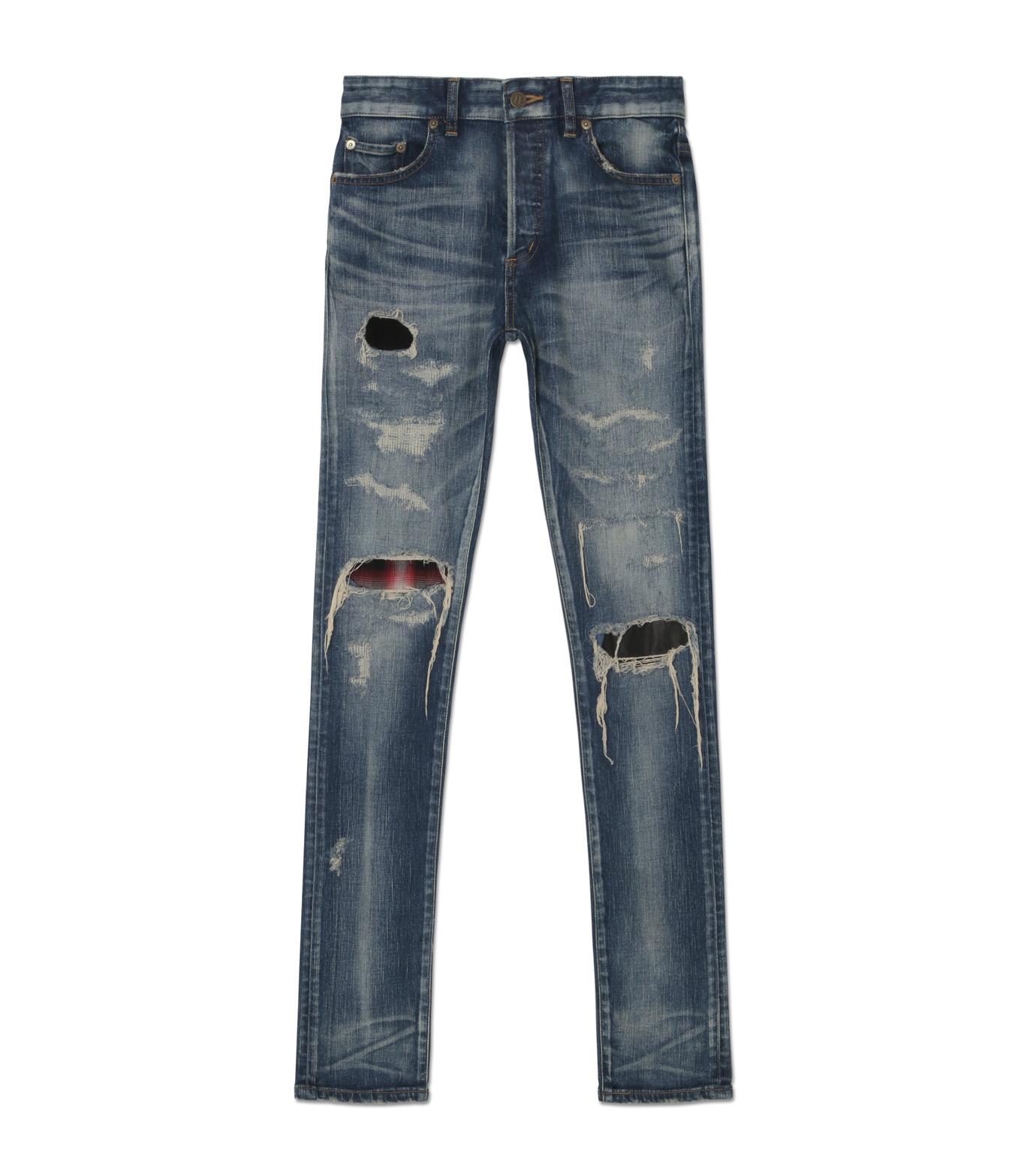 HL HEDDIE LOVU(エイチエル・エディールーヴ)のINDIGO DAMAGE5 SKIN SLIM-INDIGO(パンツ/pants)-18A98005-94 拡大詳細画像1