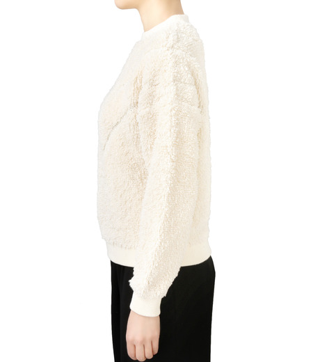 LE CIEL BLEU(ルシェルブルー)のパイルスウェットニットトップス-WHITE(ニット/knit)-18S61010 詳細画像2
