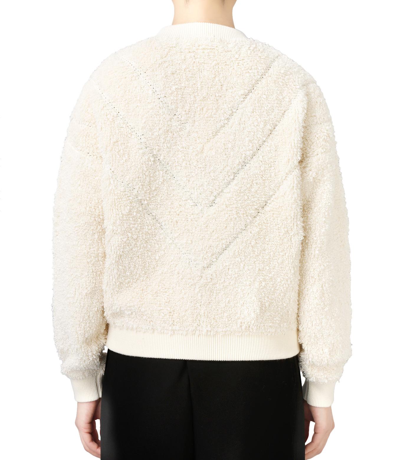 LE CIEL BLEU(ルシェルブルー)のパイルスウェットニットトップス-WHITE(ニット/knit)-18S61010 拡大詳細画像3