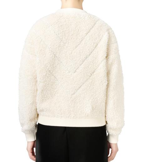 LE CIEL BLEU(ルシェルブルー)のパイルスウェットニットトップス-WHITE(ニット/knit)-18S61010 詳細画像3
