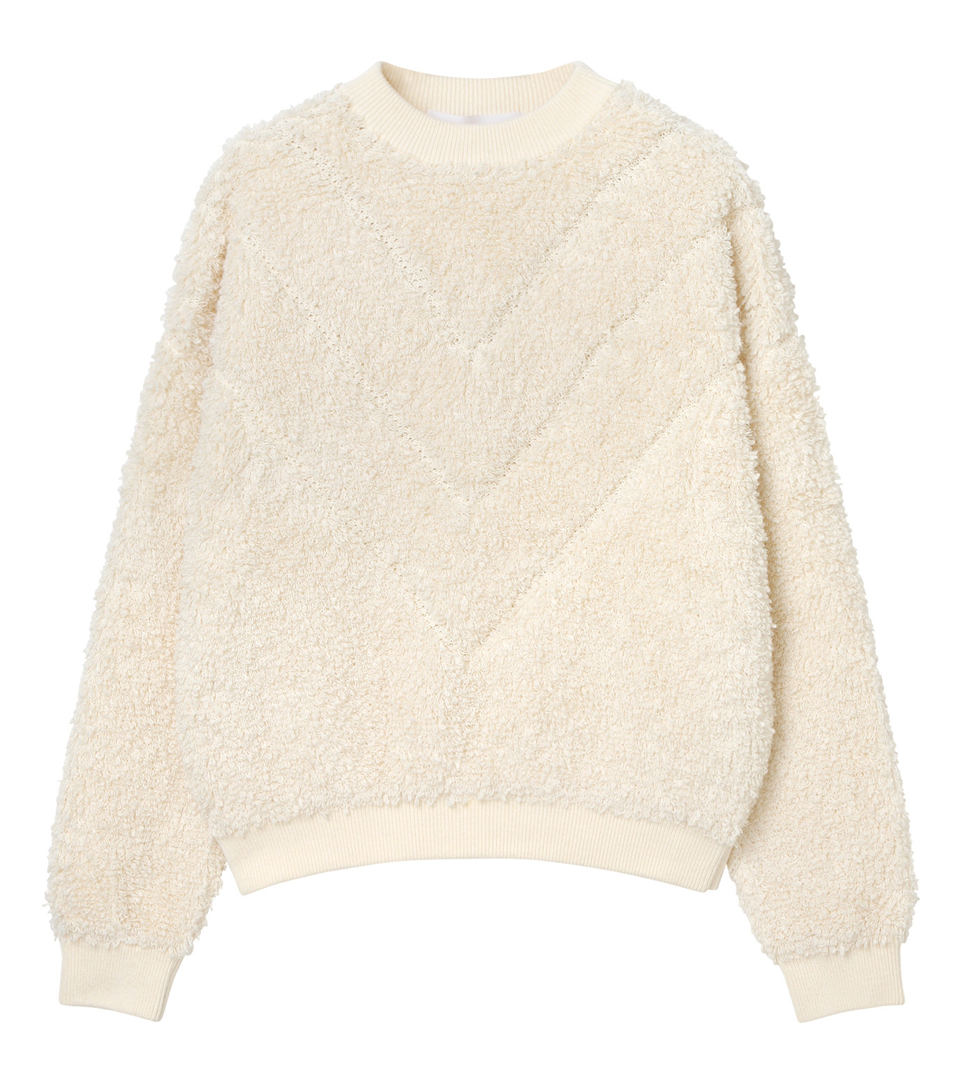 LE CIEL BLEU(ルシェルブルー)のパイルスウェットニットトップス-WHITE(ニット/knit)-18S61010 拡大詳細画像5