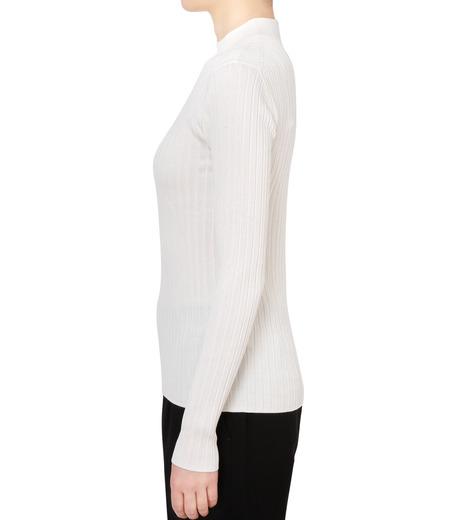 LE CIEL BLEU(ルシェルブルー)のシルクワイドリブトップス-WHITE(ニット/knit)-18S61013 詳細画像2