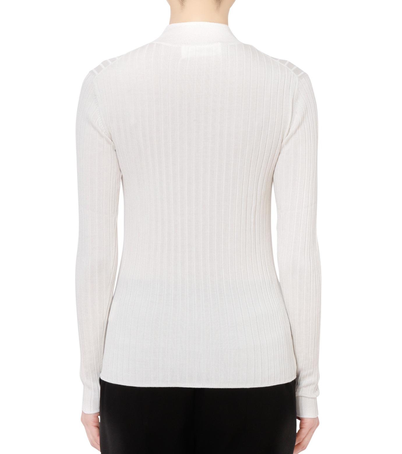 LE CIEL BLEU(ルシェルブルー)のシルクワイドリブトップス-WHITE(ニット/knit)-18S61013 拡大詳細画像3