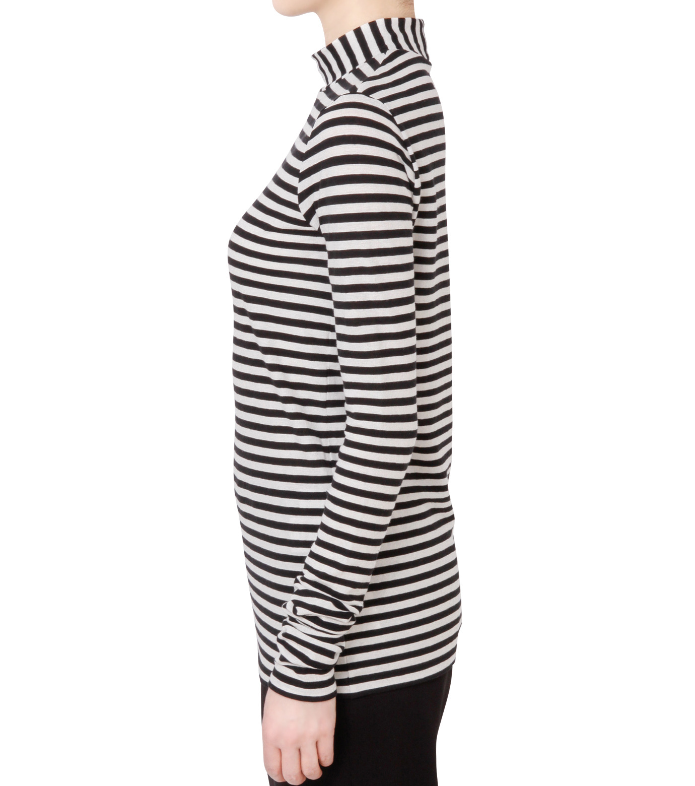 LE CIEL BLEU(ルシェルブルー)の8×8ボーダーロングスリーブトップス-BLACK(カットソー/cut and sewn)-18S62011 拡大詳細画像2